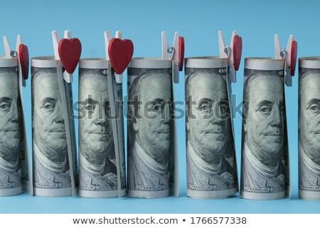 Cinquanta dollaro bill cuore concetti isolato Foto d'archivio © Danilin