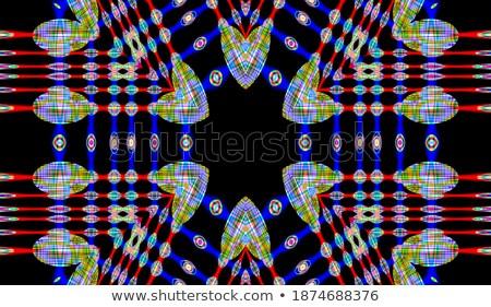 Illusztráció fekete számítógép tabletta piros kör Stock fotó © gigra