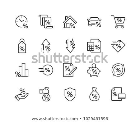 house with discount tag line icon stock photo © rastudio