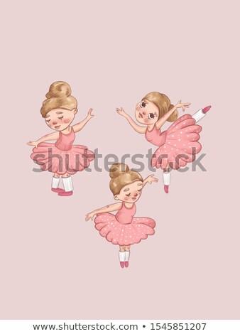 рисованной иллюстрация балерина женщину девушки Сток-фото © gigi_linquiet