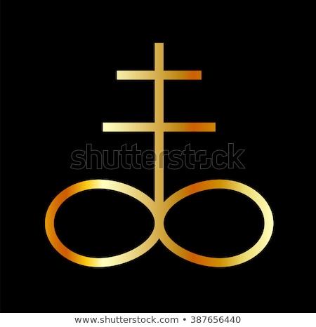 A golden Leviathan Cross or Sulfur symbol  Stock photo © shawlinmohd