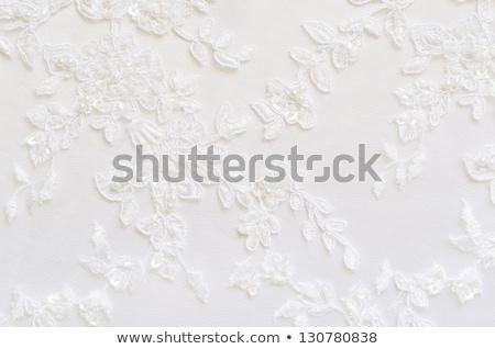 Wedding white lace background Stock photo © g215