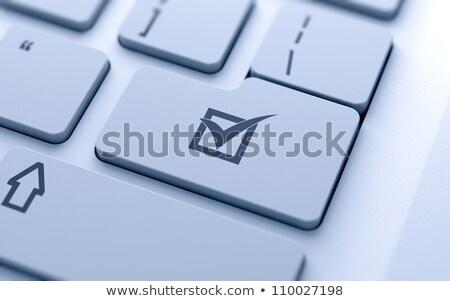 Vragenlijst business toetsenbord Stockfoto © devon