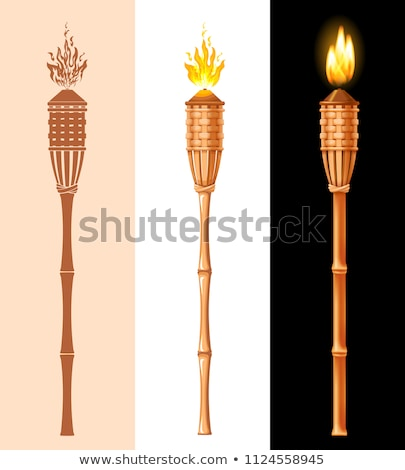 Tiki Torch silhouette  Stock photo © njnightsky