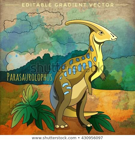 Dinoszaurusz élőhely illusztráció tájkép háttér trópusi Stock fotó © ConceptCafe