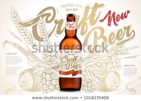 set of beer elements Stock photo © kjolak
