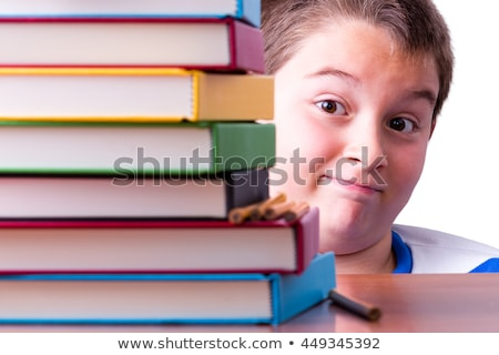 Cautiously optimistic young schoolboy Stock photo © ozgur