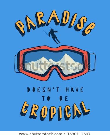 Snowboarding óculos de proteção realista ilustração olhos esportes Foto stock © fresh_7266481
