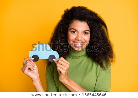 nice woman smiling you from her car Stock photo © Giulio_Fornasar