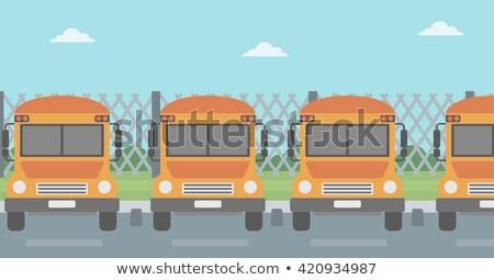 школы · забор · иллюстрация · дети · Постоянный · один - Сток-фото © rastudio