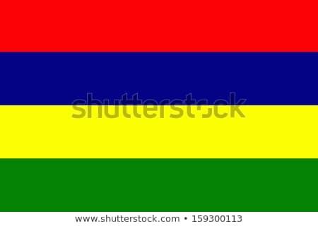 Bandera Mauricio ilustración blanco signo verde Foto stock © Lom