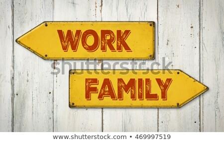 работу · жизни · баланса · указатель · жизни · изображение - Сток-фото © zerbor