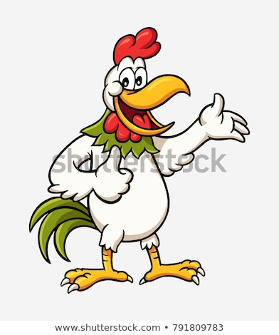 cute cartoon rooster for you design stock photo © jawa123
