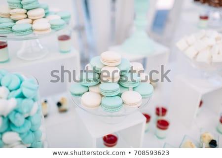 Színes gyönyörű felszolgált torta tányér Stock fotó © zurijeta