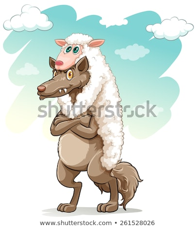 Sheep hugging the wolf Stock photo © bluering