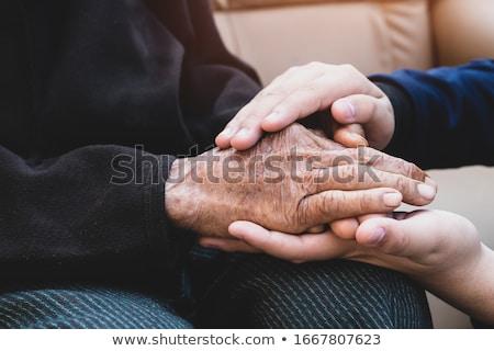 женщину · утешительный · старший · человека · депрессия · женщины - Сток-фото © kurhan