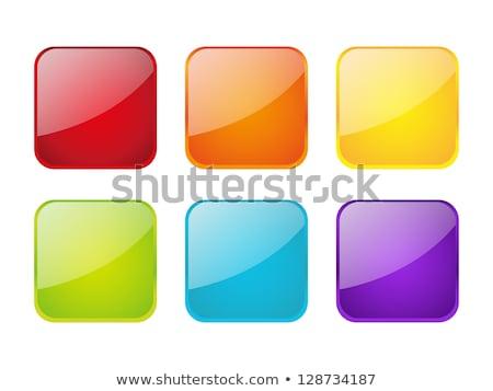 witte · Blauw · geïsoleerd · vierkante · grid · ingesteld - stockfoto © bluering