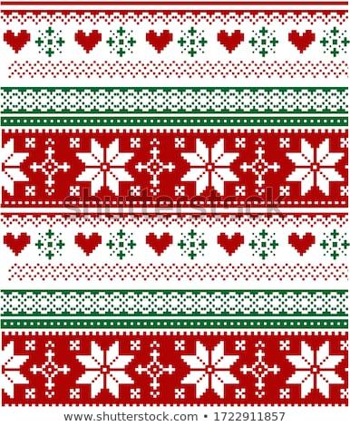 Tricotado teste padrão do natal flocos de neve papel projeto neve Foto stock © carodi