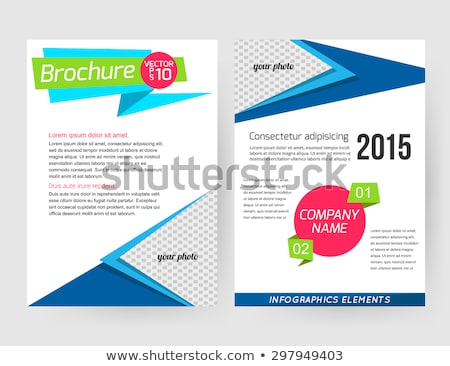 Corporate identity templates. Letterhead, business card, poster, flyer, banner. Paper edition. Place Stock photo © JeksonGraphics
