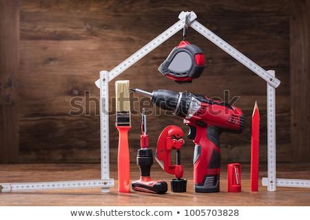 красный плотник карандашом столе семинар Сток-фото © stevanovicigor