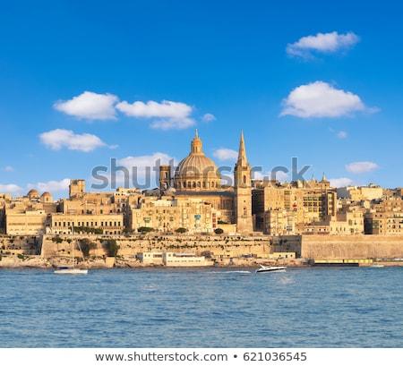 ver · cidade · velha · Malta · porto · edifícios · urbano - foto stock © meinzahn