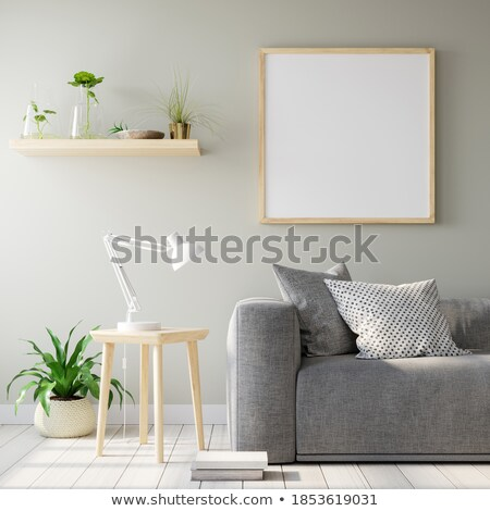 Quarto vazio quadro luzes fundo quarto azul Foto stock © SArts
