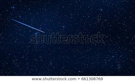 azul · cometa · céu · noturno · duas · pessoas · estrelas - foto stock © beholdereye
