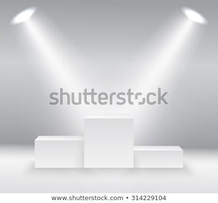 escalera · escaleras · líder · hasta · aislado · blanco - foto stock © maryvalery