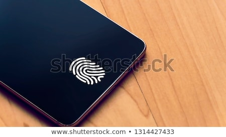 Generic Smart Phones With Fingerprint Identification Stock photo © albund