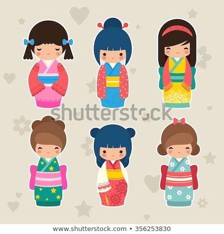 Ilustração boneca arte asiático cultura criador Foto stock © adrenalina