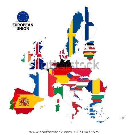 Евросоюз флаг стране европейский Союза членство Сток-фото © tkacchuk