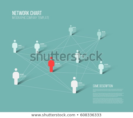 minimalist 3d people diagram template stock photo © orson