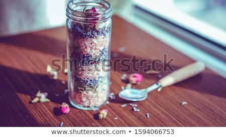 lavanda · fiori · isolato · legno · bella · viola - foto d'archivio © all32