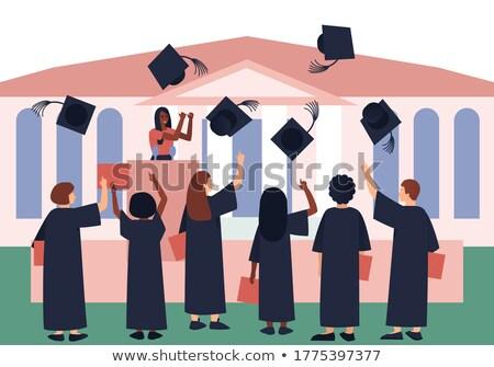 érettségi · beszéd · illusztráció · gyerek · gyermek · férfi - stock fotó © lenm