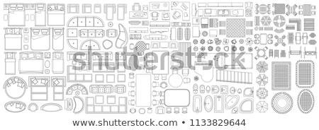 vektör · toplama · iç · mimari · elemanları · mobilya - stok fotoğraf © kup1984
