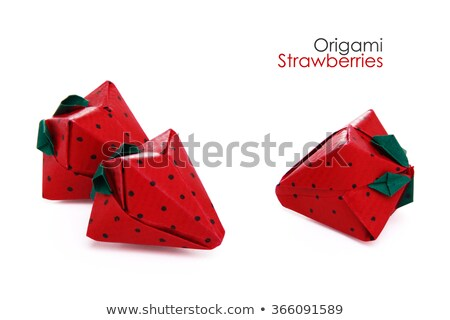Ripe strawberry of origami Stock photo © brulove