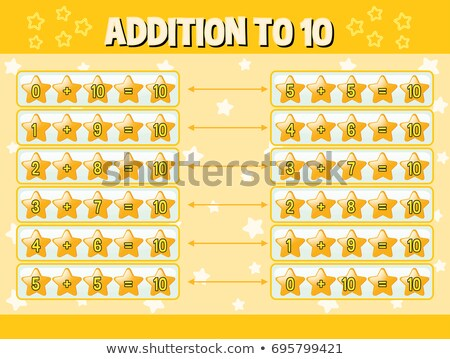 addition to ten with yellow stars stock photo © bluering