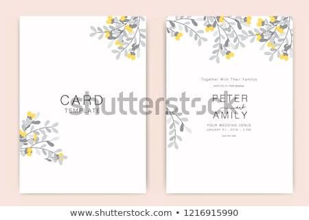 Ramki szablon żółte kwiaty ilustracja charakter piśmie Zdjęcia stock © bluering