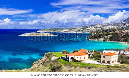 Creek holidays. Scenic landscapes of beautiful Crete island. Kalyves. Stock photo © Freesurf