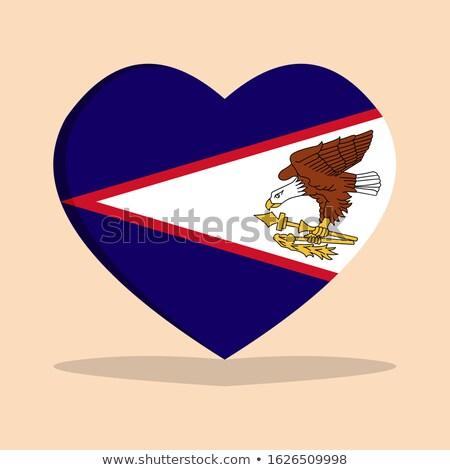 Samoa Americana coração bandeira vetor imagem projeto Foto stock © Amplion