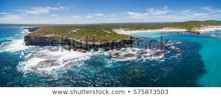 ondas · canguru · ilha · sul · da · austrália · praia · mar - foto stock © dirkr