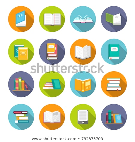 Library Books Flat Vector Icon Stock photo © ahasoft