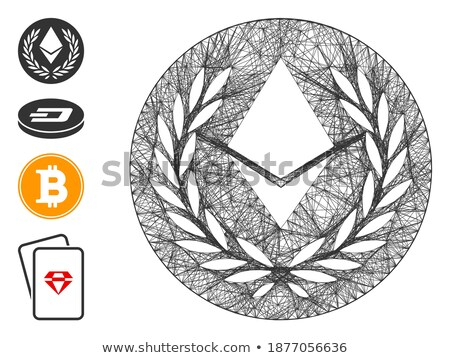 Ethereum Medal Coin Flat Icon Stock photo © ahasoft