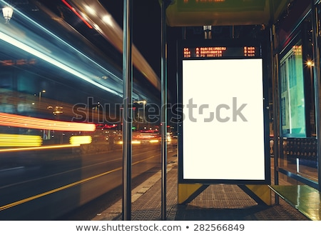 Bus station advertising poster mock up copy space Stock photo © stevanovicigor