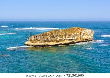 erosión · costa · Caribe · mar · paisaje - foto stock © backyardproductions