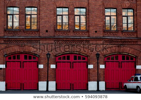 detail of lights in a fire station stock photo © monkey_business