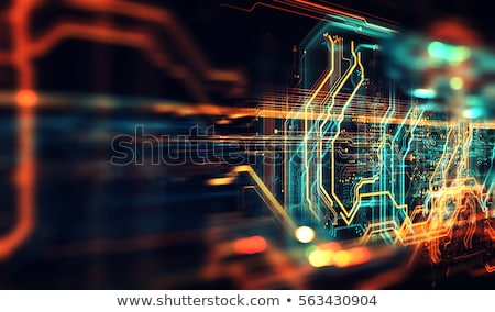 technology circuit board background with dynamic lines stock photo © sarts