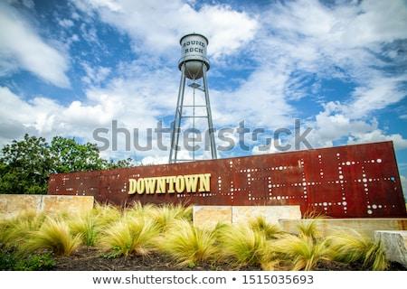 исторический рок Техас выстрел символический город Сток-фото © BrandonSeidel