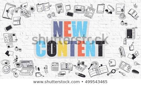 новых содержание болван дизайна белый Сток-фото © tashatuvango