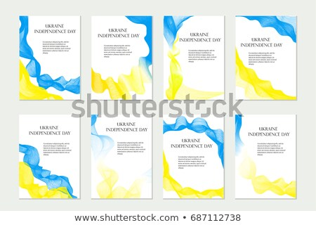 Independence Day Ukraine. Set of templates, brochures, flyers for your design in national flag color Stock photo © lucia_fox